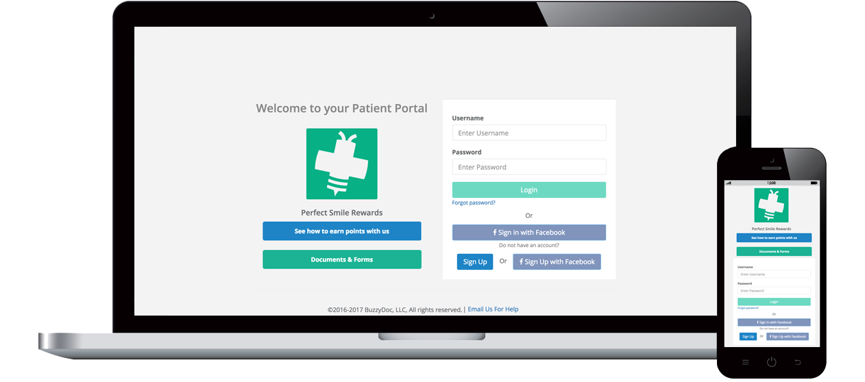 Patient Portal BuzzyDoc Rewards